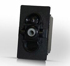 V2D1A60B - momentary(ON)-OFF w/IND Lamp, Carling Contura Rocker Switch, marine