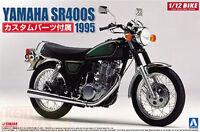 AOSHIMA 1/12 SCALE YAMAHA SR400S PLASTIC BIKE MODEL KIT * NEW STOCK *