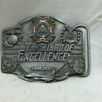 Limited Edition VFW Vanguard of Excellence Metal Belt Buckle 1990 By Buckle Co