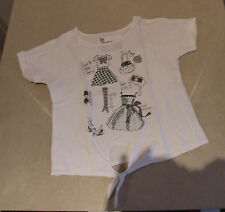 Utterly Adorable TU 110 cm. Girls White Short Sleeve T-Shirt Top Girl Age 5 Fab!