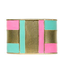 Neon Gold Cuff Bangle Colourful Modern Statement | FREE SHIPPING & 50% OFF