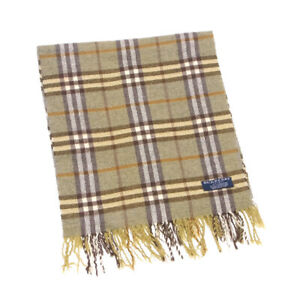 BURBERRY muffler check system Castains Auth Used L3008