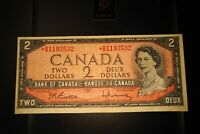 1954 Replacement $2 Dollar Bank of Canada Banknote *BB1193532 F-VF