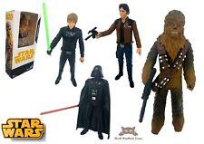 Star Wars Figures Pack Bundle Han Solo Darth Chewbacca Luke - New Boxed