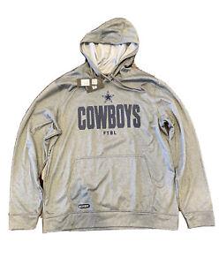 Dallas Cowboys New Era Combine Team Therma Gray Hoodie Jacket Men's Size XL NWT!