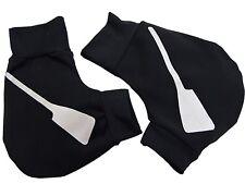 Ruderhandschuhe schwarz / silber mit Aufdruck, Rudern, Rowing, Poggies