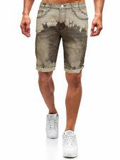 Bermuda Jeans Bruno Leoni Pantaloni corti Uomo Pantaloncini Slim Fit e risvolto