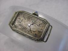 Vintage GOLD FD antique pre 1920 Art Deco Lady NOMOS SAPPHIRE watch