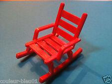 PLAYMOBIL Western - Rocking-chair rouge pour le bureau du sherif, ranch, maison