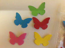 Embellishments Die Cut Butterflies 5 Assorted Coloured Card Qty 25