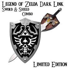 Legend of Zelda Dark Link Hylian Zelda Shield & Sword COMBO (UA-2701BK/CH0087BK)