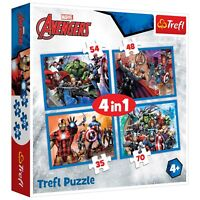 MARVEL Avengers 4 in 1 Puzzles Kids toys boys
