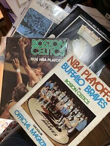 Buffalo Braves Boston Celtics Programs 1974 and 1976 Playoffs, 1973-74 Official