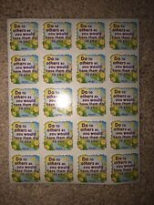 """10 Sheets of """"Do To Others As You Would Have Them Do To You� Christian Stickers"""
