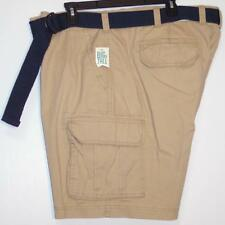 NWT Men's Sonoma Belted Cargo Shorts Big & Tall Size 46 Solid Incense Beige