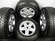Genuine conjunto de cinco Jeep Wrangler Llantas De Aleación Con Neumáticos 245/75R17