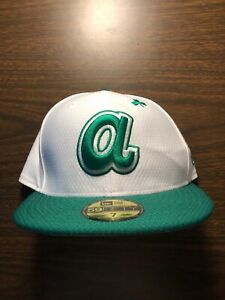 Atlanta Braves New Era St Patricks Day Green Fitted Hat Size 7 - FAST SHIPPING