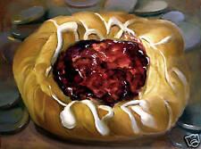 Cherry Danish   40 x30 in. Original Oil on canvas    HALL GROAT II