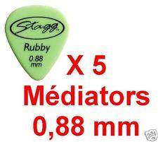 5 Médiators Taille 0,88 mm Vert Ruby Standart