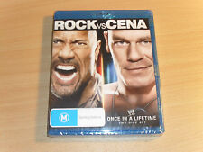 WWE The Rock Vs. John Cena Once In A Lifetime (Blu-ray 2-Disc Set) Brand New