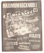 Vtg December 1991 Maximum Rock N Roll Punk Rock Music Zine Magazine No. 103