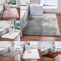 Flauschige Teppich Hochflor Shaggy Teppiche Langflor Wohnzimmer Pflegeleicht Neu
