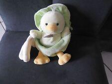 doudou peluche poussin oiseau coquille oeuf vert BABY NAT' 18cm