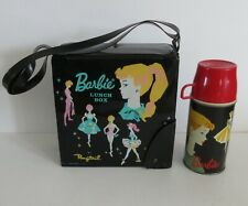 "1962 Vintage Barbie ""Ponytail"" Vinyl Lunchbox Thermos Very Desired Barbie Wow!!"