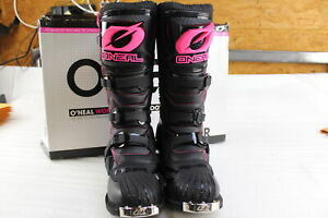 O'Neal Women's Rider Series Boots Size 10 Black and Pink #0325-710