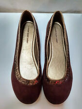 Lower East Side, Women's Brown Glitter Trim Slip-On Loafer Shoes, Size US 11 EUR