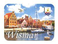 Wismar Relief 3D Optik unebener Magnet Germany Souvenir 9 cm