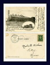ARIZONA BISBEE COPPER QUEEN SMELTER POSTED 1905 TO MABEL WITHAM, KITTERY, MAINE
