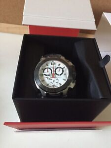 Tissot T048.417.27.037.00 T-Race Chronograph White Dial Black Rubber Watch