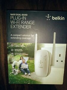 Official Belkin N600 Dual Band Plug-in Wi-Fi Range extender. One of four.