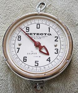 Vintage Detecto 10 Pound Hanging Produce Farm Scale Dial No Pan