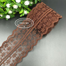 Wholesale!!! 12 Yard Bilateral Handicrafts Embroidered Net Lace Trim Ribbon FL01