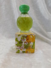 Vintage Avon Lily of the Valley Cologne Glass Bottle .5 Fl Oz 95% Full - Rare