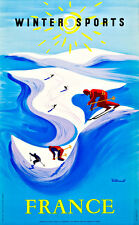 TRAVEL WINTER SPORT SKIING MONT TREMBLANT QUEBEC CANADA VINTAGE POSTER 2577PY