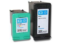 2x XXL CARTOUCHE ENCRE noir couleur pour HP 350 XL 351 XL Photosmart C4580 C4583