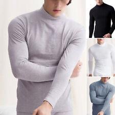 Homme Coupe Slim Haut Manches Longues Col Roulé sous Pull Pull Pyjama T-Shirt