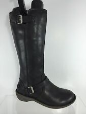 UGG Australia Womens Black Leather Knee Boots 5