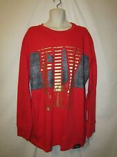 mens fly society L/S  t-shirt 3XL nwt $54 red gold