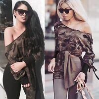 Fashion Women's Ladies Long Sleeve Shirt Casual Blouse Loose Cotton Tops T Shirt