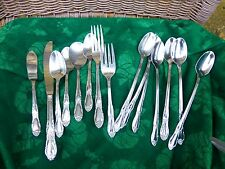 Wm. A. Rogers Oneida Stainless Fenway or Daydream Pattern 15 Pieces Sweet