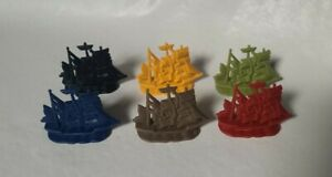 Life Game Pirates Of The Caribbean  Replacement Parts Pieces 6 Ships (AA2-3)