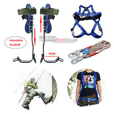 Adjustable Tree Climbing Spike Set Tool With Safe Belt And Lanyard Us Stock New