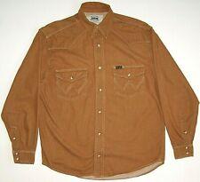 Shirt Wrangler The Authentic Western Jeans Cowboy Cotton Long Sleeve Men's