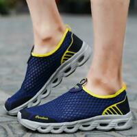 Mens Beach Slip On Sports Water Shoes Mesh Barefoot Quick-dry Breathable Walking