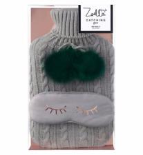 Zoella Catching ZZZ's Hot Water Bottle & Jersey Eye Mask Christmas Lifestyle2017