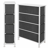 Narrow Vertical Dresser Storage Tower Organizer 4 Drawers Bedroom Closet Hallway